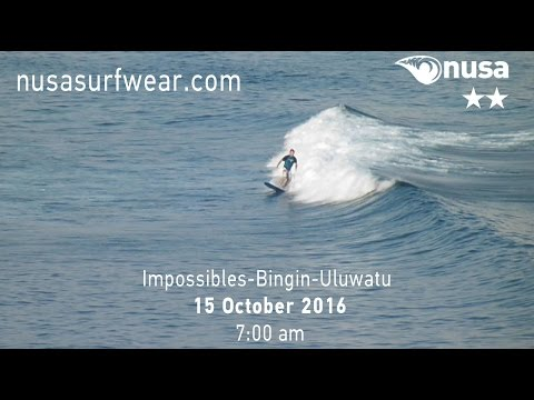 15-10-2016 /✰✰/ NUSA's Daily Surf Video Report from the Bukit, Bali.