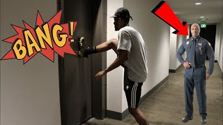 DING DONG DITCHING IN A HIGH SECURITY BUILDING (ALMOST GOT CAUGHT) OMG!!! DISTURBING NEIGHBORS Video