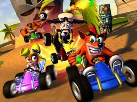 crash team racing ps1 gameplay youtube