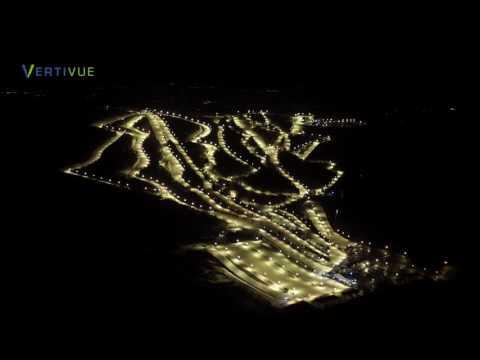 Blue Mountain Ski Area Flyover At Night