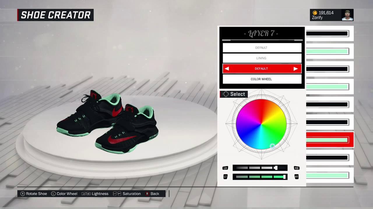 nba 2k17 shoe creator nike kd 7 quotbad applequot youtube