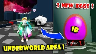 NEW UNDERWORLD AREA UPDATE, 3 NEW EGGS & GOT PETS 1 BILLION In Dashing Simulator!! [Roblox]