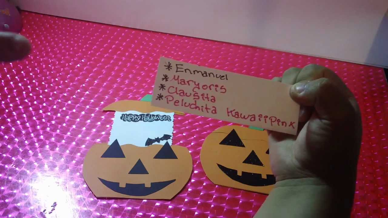 Tarjeta sorpresa para halloween youtube - Ideas para hacer en halloween ...