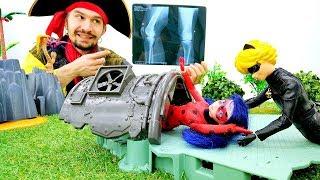 Видео с игрушками ЛедиБаг и Супер Кот. Рентген для супергероя!