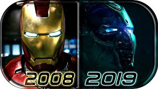 EVOLUTION of IRON MAN in MCU Movies (2008-2019) Avengers Endgame Iron Man death scene 2019 full clip