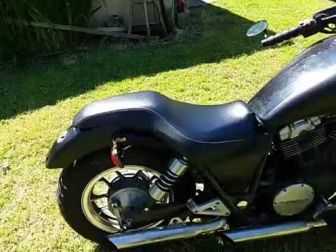 1983 Honda Shadow 750 Custom Seat Youtube