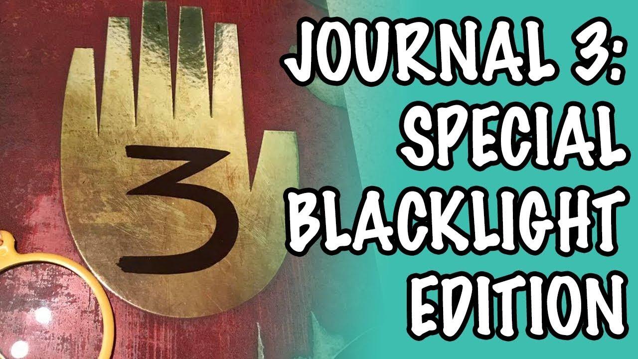 gravity falls journal 3 special edition black light ebay