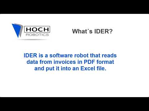 Robotic Process Automation  - Invoice Data Extration Robot