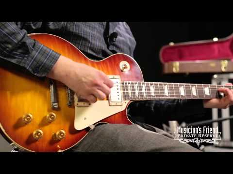 Gibson Custom 1958 Les Paul Reissue Handpicked Heavy Aged Electric Guitar Slow Ice Tea Fade