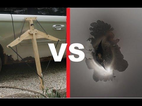(GIANT) Homemade Crossbow VS Car door