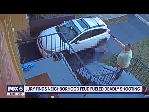 Virginia man accused of killing neighbor found guilty of first-degree murder; video shows incident