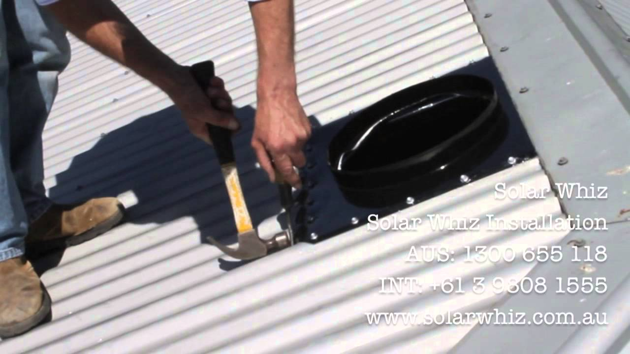 solar whiz installation demo on a metal roof