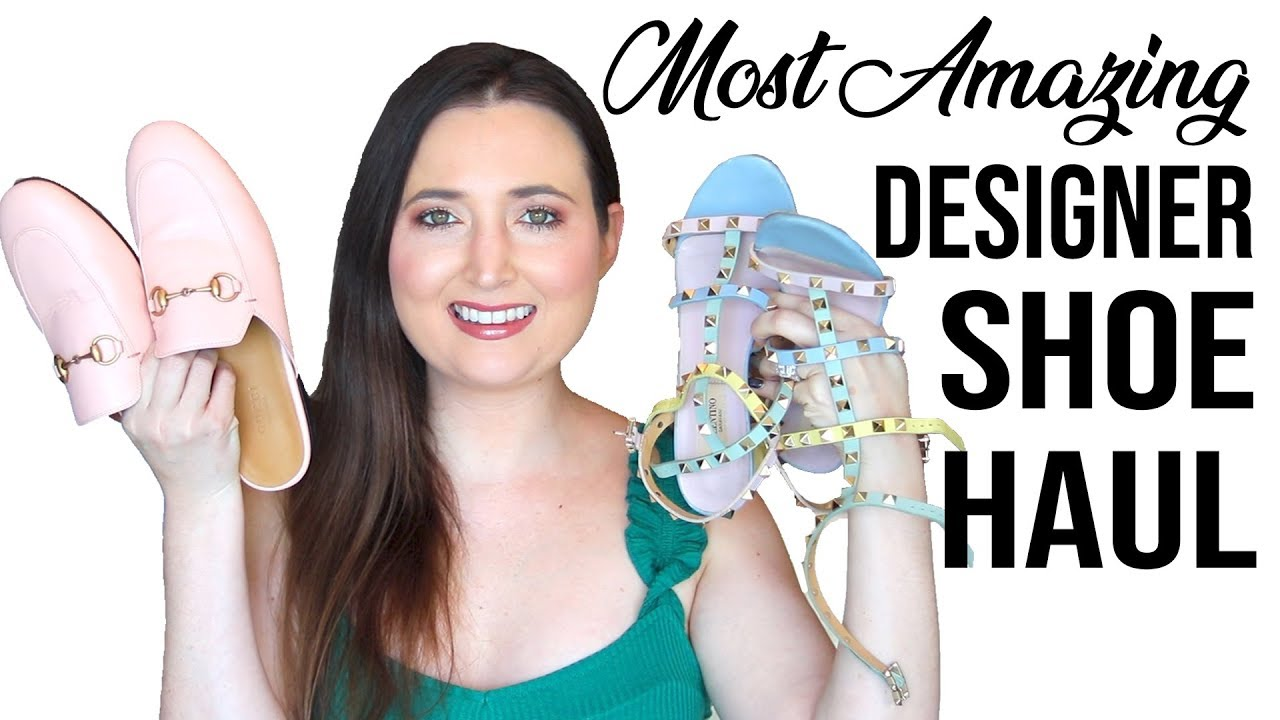 af7bc072880 Most Amazing Designer Shoe Haul (Spring   Summer 2019) - YouTube