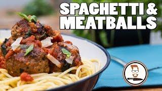 MEATBALLS AND SPAGHETTI RECIPE | Italian-Inspired Tomato Pasta