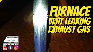 Home Inspection Video - furnace vent leaking exhaust gas