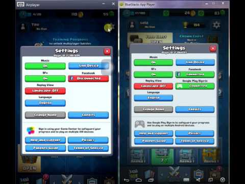 how to link Clash royale from android to ios