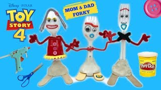 How To Make Mom And Dad Forky Toy Story 4 Easy Tutorial! Custom Mom and Dad Forky Toy Story 4
