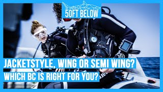 Scuba BCDs - The Difference Between Jacket Style, Wing Style and Semi-Wing Style