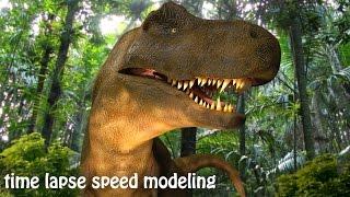time lapse sding T-rex, blender