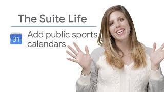 Add Public Sports Calendars - The Suite Life