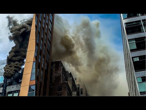 [ Manhattan 2nd Alarm Box 759 ] *Early-Arrival* Heavy Fire 1&2 Floors & Through The Duct Work