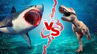 もしメガロドンと恐竜が対峙したら?!