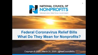 Federal Coronavirus Relief Bills: What Do They Mean for Nonprofits?