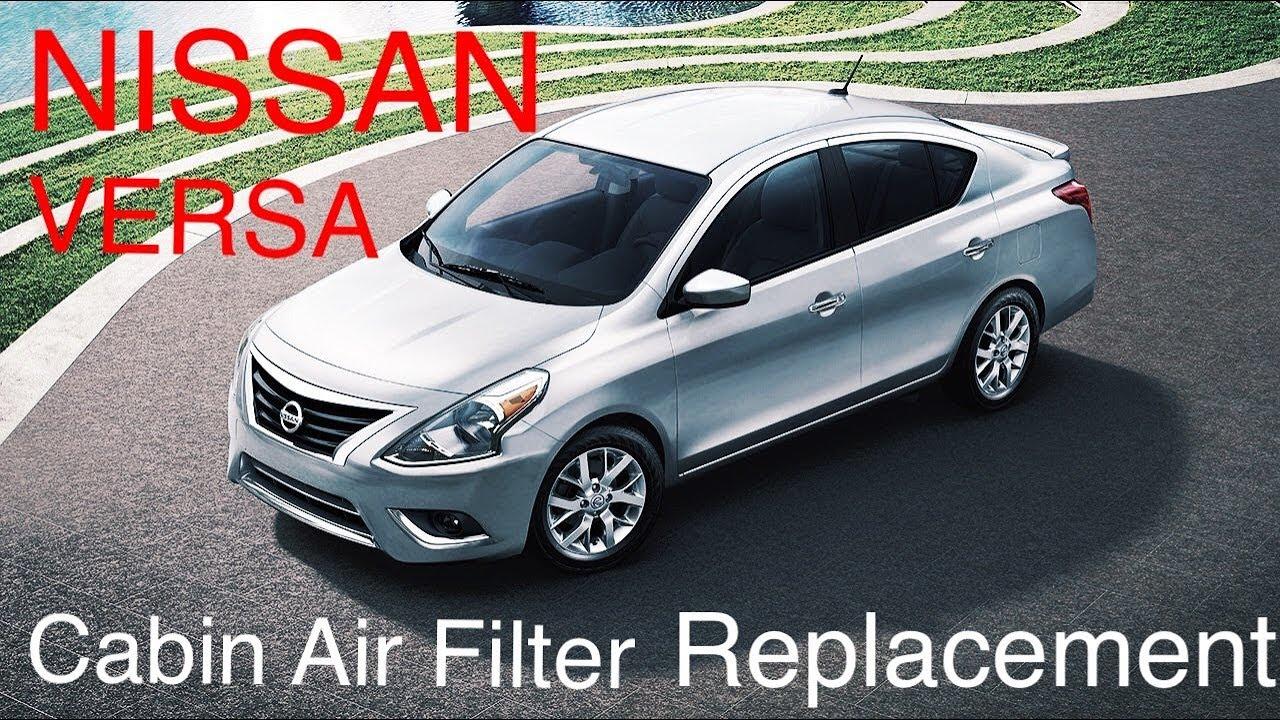 2014 nissan versa sedan cabin air filter
