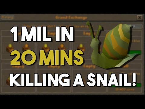 [OSRS] How I Made 1Mil in 20 Minutes Killing this Snail! Oldschool Runescape Money Making!
