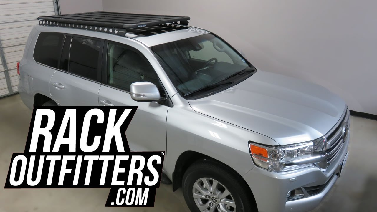 Toyota Land Cruiser With Rhino Rack Backbone Pioneer Platform Rack Youtube