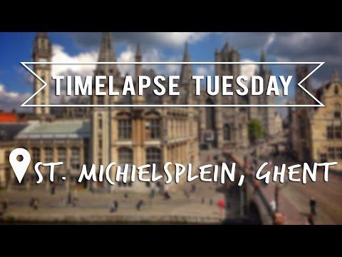 TIMELAPSE TUESDAY - St Michielsplein, Ghent - Belgium