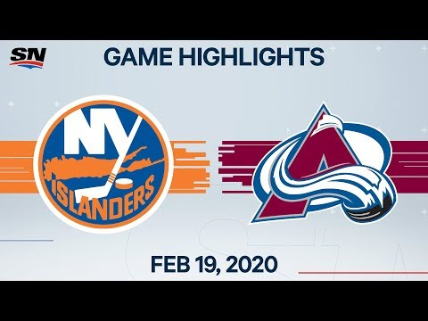 NHL Highlights   Islanders Vs Avalanche – Feb. 19, 2020
