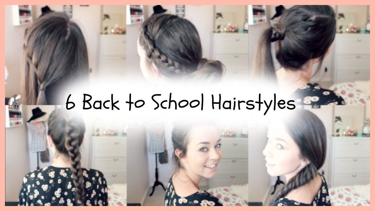 6 Back To School Quick Easy Braided Hairstyles YouTube