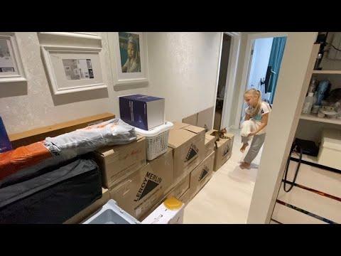 ВЛОГ Наш ПЕРЕЕЗД в Дом 🏡! Собираем вещи ! Разбираем шкафы с одеждой !