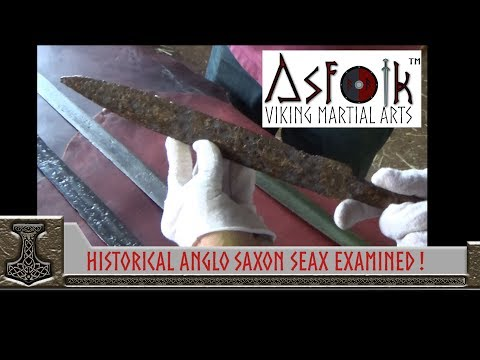 Anglo Saxon Seax Examined of Oakeshot Institute By Thrand & Dimicator @ Asfolk!