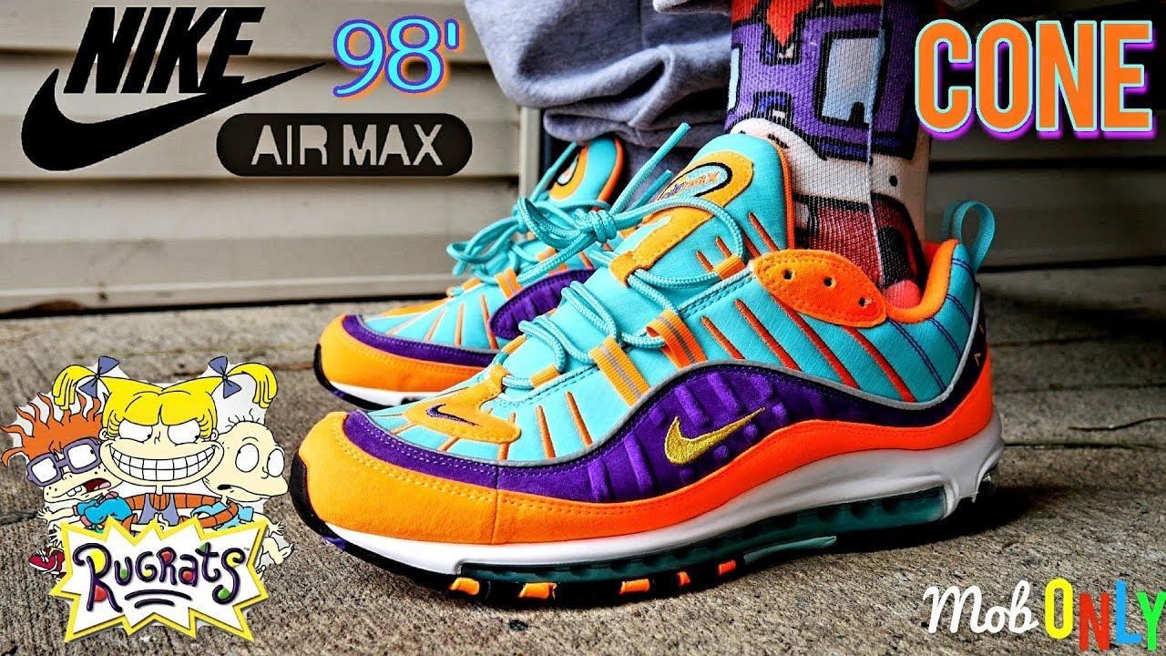 nike air max 98 qs 'vibrant cone'