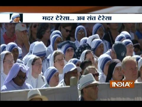 'Saint Teresa of Calcutta': Pope Francis canonises Mother Teresa in Vatican ceremony