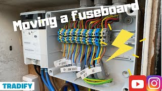 Moving A Fuseboard/Consumer Unit inside, Tradify how to, Exotic life of an Electrician