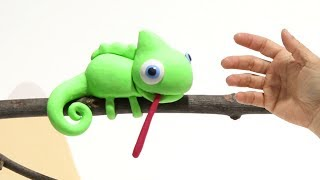 Baby Chameleon Stop motion cartoon for kids - BabyClay thumbnail
