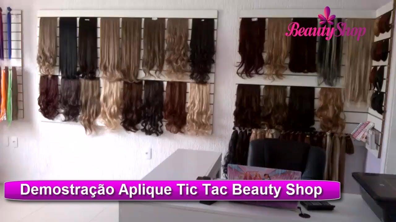 Cabelo Aplique Tic Tac Sintetico Organico Beauty Shop Youtube