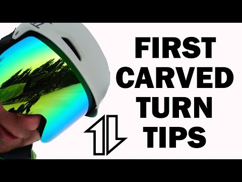 Tips for your FIRST CARVED TURNS on a Snowboard