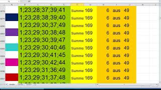 Lotto 6 aus 49 Summe 169 video…