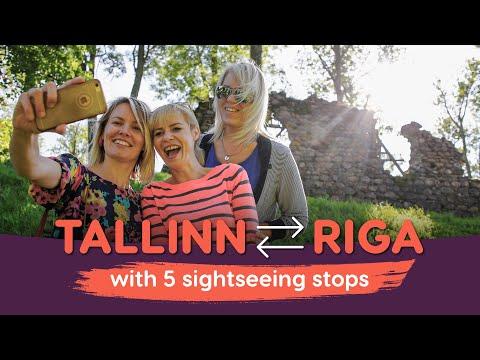Tallinn-Riga (or Riga-Tallinn) Sightseeing Tour Bus