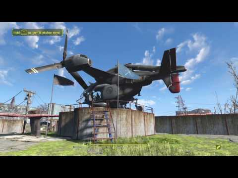 Fallout 4: How To Build a Helipad!