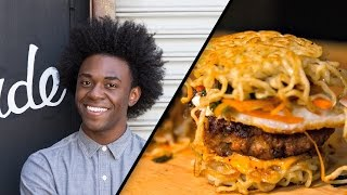Spicy Miso Ramen Burger  Lazarus Lynch