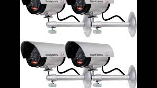 WALI Bullet Dummy Fake Surveillance Security CCTV Dome Camera Indoor Outdoor