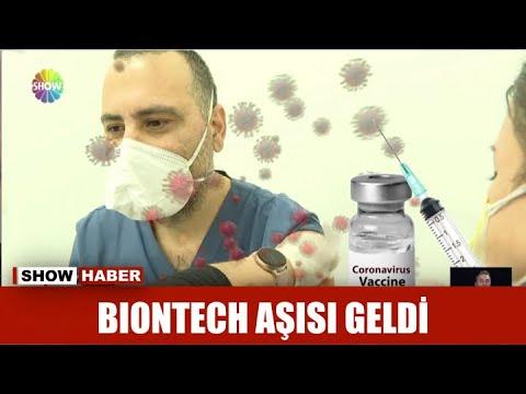 Biontech aşısı geldi