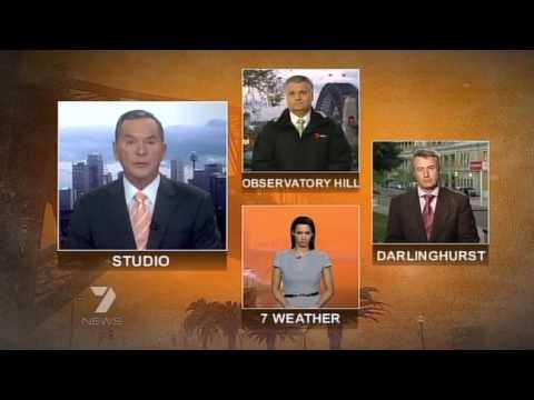 Seven News - Sydney Dust Storm