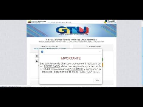 como legalizar en el GTU registrarse y solicitar cita 2017