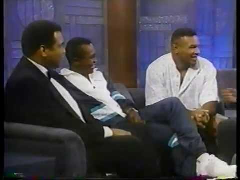 Muhammad Ali  Sugar Ray Leonard & Mike Tyson @ The Arsenio Hall  1990